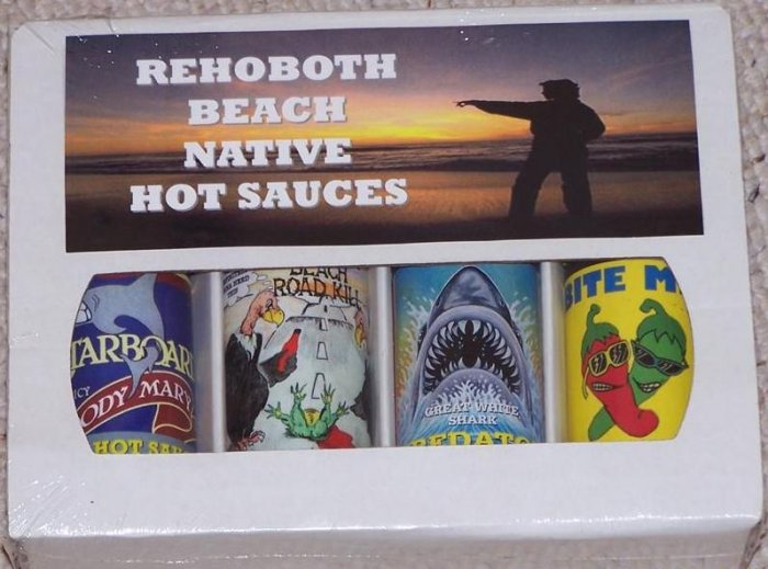 4 Pack Gift Box - Rehoboth Beach Native Hot Sauce