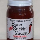 Bone Suckin' Hot BBQ Barbecue Sauce - Thicker Style 16oz