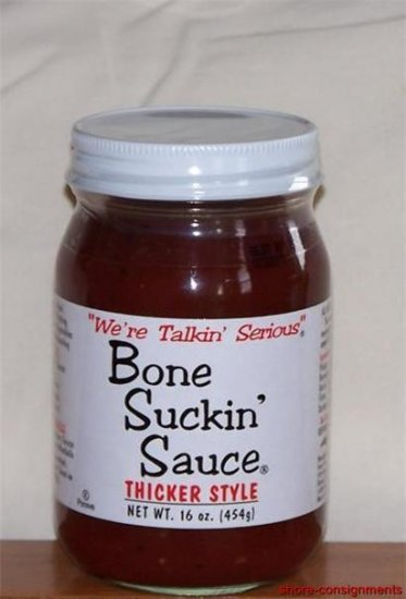 Bone Suckin' BBQ Barbecue Sauce - Thicker Style 16oz