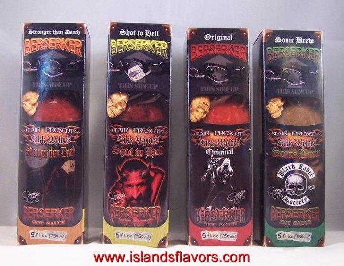 Blair's Berserker Zakk Wylde's Black Label  Hot Sauce Set of 4