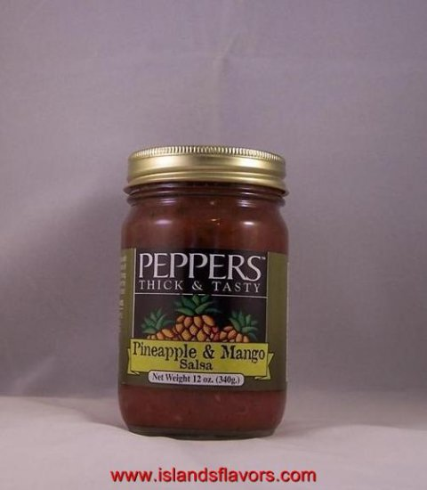 Pineapple and Mango Salsa 12oz  Peppers