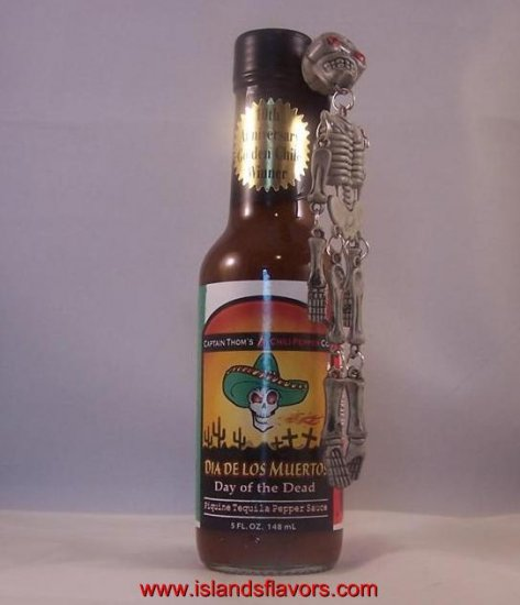 Day Of The Dead Tequila Pepper Sauce&Skeleton Key Chain