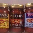 Blue Crab Salsa Original-Zesty-Corn 12oz  Peppers of Rehoboth Beach