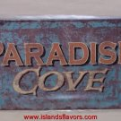 Paradise Cove Weathered Tin Sign New Tropical Decor