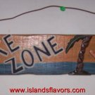 No Wake Zone Man in Beach Hammock Wood Sign NEW