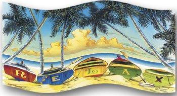 Tropical Beach Towel Relax 32x64