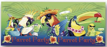 Beach Towel Parrot Party Tropical Colors