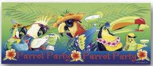 Beach Towel Parrot Party Tropical Colors
