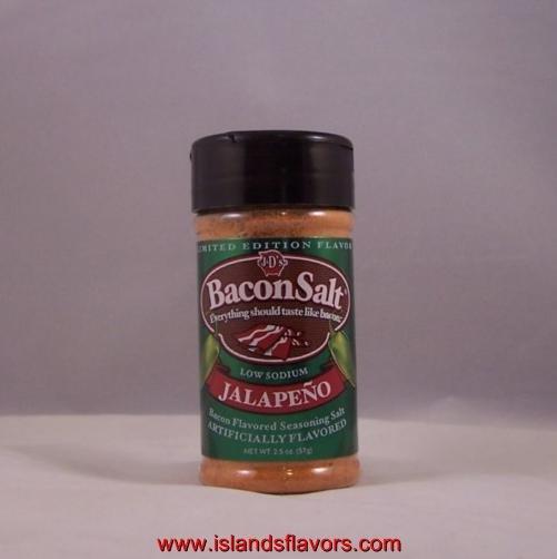 J&D's Bacon Salt JALAPENO Flavor 2oz  Low Sodium