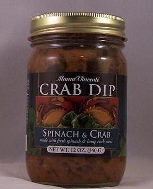 Mama Vincente Spinach and Crab Dip 12oz With Lump Crab Meat
