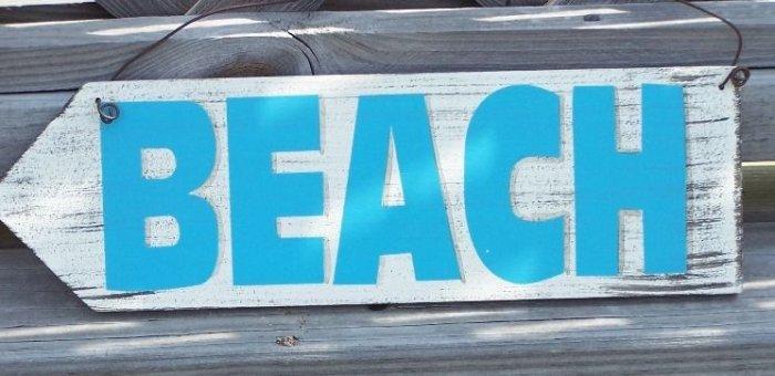 Beach Directional Arrow Tropical Beach Bar Sign