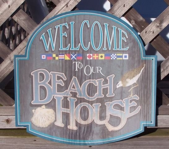 Welcome To Beach House Tropical Beach Tiki Sign New
