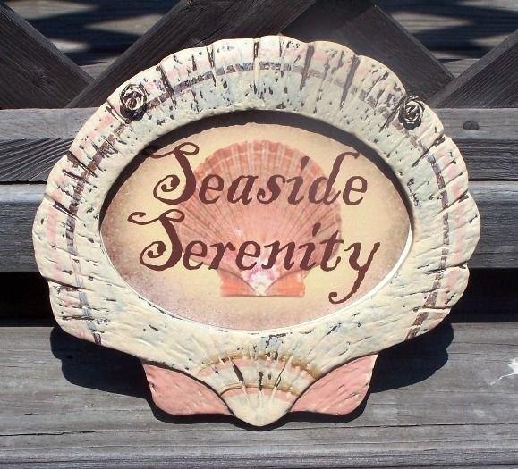 SEASIDE SERENITY Tropical Tiki Beach Bar Sign