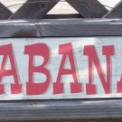 Cabana Directional Arrow Tropical Beach Bar Sign