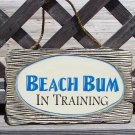 Beach Bum Tropical Beach Bar Weathered Sign