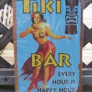 Tiki Bar Happy Hour Tropical Beach Bar Sign