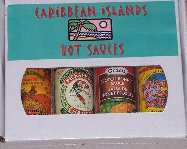 Caribbean Islands Hot Sauce 4 Pack Gift Box