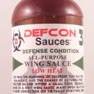 DEFCON 3 Defense Hot Wing Sauce Low Heat 8oz