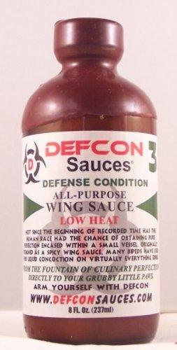 DEFCON 3 Defense Hot Wing Sauce Low Heat 8oz