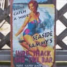 Seaside Sammys Surf Shack Tiki Bar Tropical Beach Sign