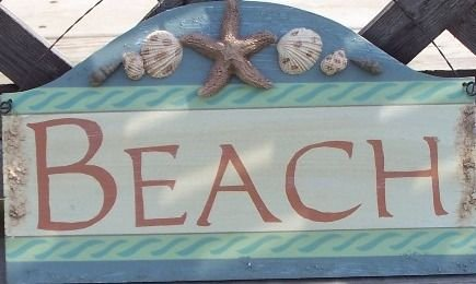 Beach Decorative Tropical Tiki Beach Bar Sign Seashells
