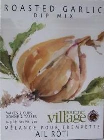 Gourmet Village Roasted Garlic Dip Mix .6oz
