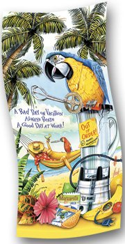 Bad Day On Vacation Beats Good Day at Work Beach Towel
