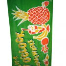 It's 5 O'clock Somewhere Tropical Beach Towel Green