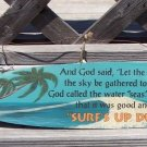 Surfs Up Dudes Tropical Beach Bar Surfboard Sign