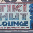 Tiki Hut Lounge Home of MAI TAI Tropical Beach Bar Sign