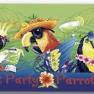 Parrot Party Tropical Beach Towel