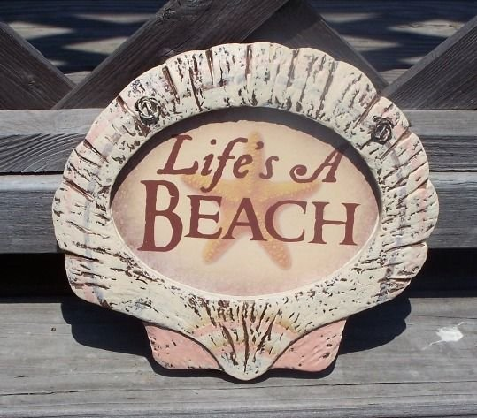 LIFE'S A BEACH  Tropical Tiki Beach Bar Sign