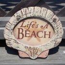 LIFE'S A BEACH  Tropical Tiki Beach Bar Sign
