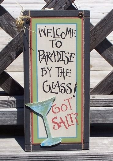 GOT SALT Welcome to Paradise Tropical Beach Bar Sign