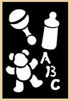 Brass Stencil of Baby Items