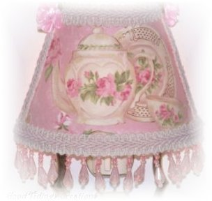 NEW! Chic PINK Teapot ROSES Plate Teacup NIGHT LIGHT