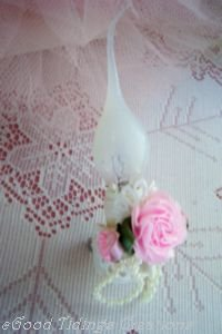 NEW! Mini Pink Roses & Pearls NIGHT LIGHT Chic Decor!