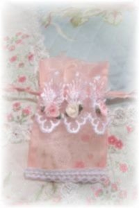 NEW! Peachy Pink Sachet Bag filled with Lavender Potpourri