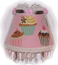Pink Cupcakes Whimsical NIGHT LIGHT