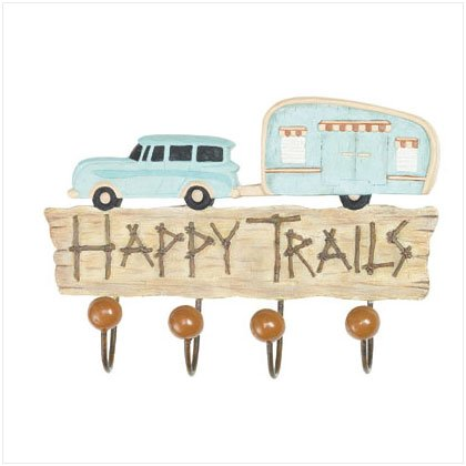 HAPPY TRAILS WALL HOOK