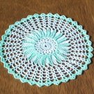 Mint Green Hand Crochet Doily - **NEW**