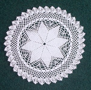 Prairie Star Hand Crochet Doily - **NEW**