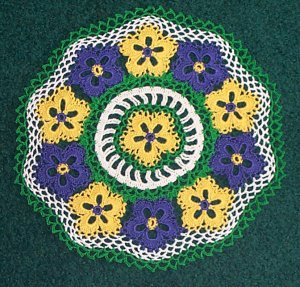 Patch of Posies Hand Crochet Doily - **NEW**