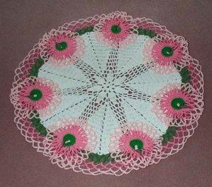 Ruffled Floral Hand Crochet Doily - Vintage Design - **NEW**