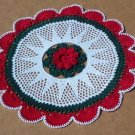 Christmas Fanfare Holiday Hand Crochet Doily - **NEW**