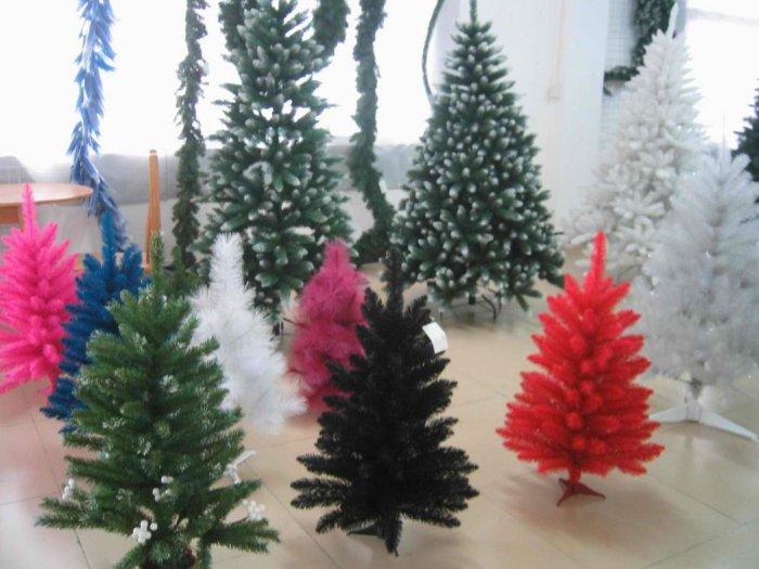 Black color christmas trees