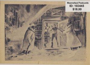 Propaganda. Christmas evening. Eastern Front. Fieldpostcard