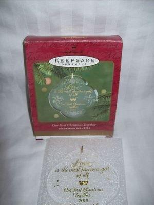 Hallmark Keepsake Ornament - Our First Christmas Together 2001