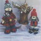 "Christmas-Winter Pattern-16"" Snowman & 12"" Snow Dog"