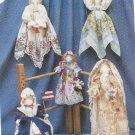 "Craft Pattern-Keeping You In Stitches-Handerchief Heirlooms-7"" & 5"" Dolls"